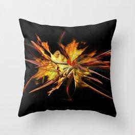 Fire on black by Mia Niemi Throw Pillow