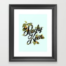 Peachy Keen : Mint Framed Art Print