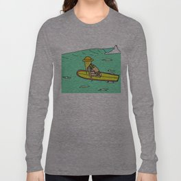 Moving Forward // lady slider surf art // surfy birdy Long Sleeve T-shirt
