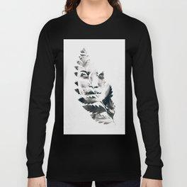 Portrait of woman(leaves) Long Sleeve T-shirt