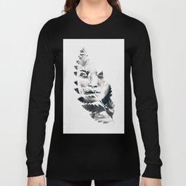 Portrait of woman(leaves) Long Sleeve T-shirt