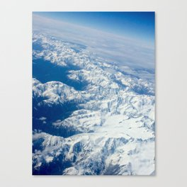 In flight series - southern alps New Zealand Canvas Print