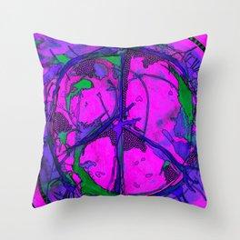 Paz hippie Throw Pillow