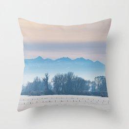 Spanish Peaks Fog Throw Pillow