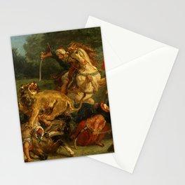 """Eugène Delacroix """"Lion Hunt"""" (1855) Stationery Cards"""
