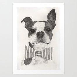 Bowtie Terrier Art Print