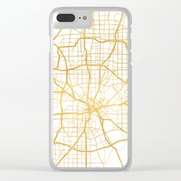 DALLAS TEXAS CITY STREET MAP ART Clear iPhone Case