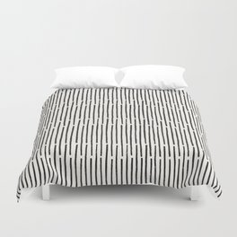 Distressed Hand Drawn Stripe Pattern Duvet Cover