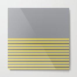 Ultimate Gray & Illuminating Stripes Metal Print