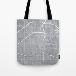 Lubbock Map, Texas USA - Pewter Tote Bag