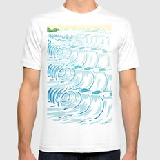 BIG WAVE Mens Fitted Tee MEDIUM White