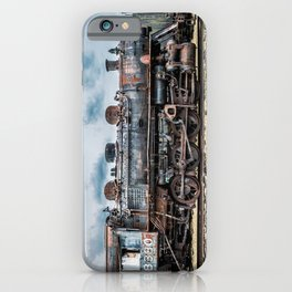 Grand Trunk and Western Railroad Switcher 8380 Rusty Steam Train iPhone Case