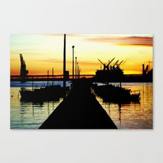 Light shines over the Harbour Canvas Print