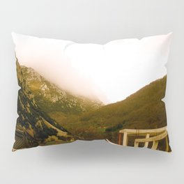 Stand here with the mountain in background Pillow Sham