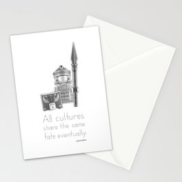 Rome - All Cultures Share the Same Fate Eventually Stationery Cards