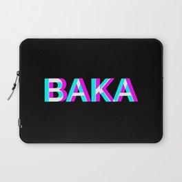Baka Anaglyph Vaporwave Anime Meme Gifts Laptop Sleeve