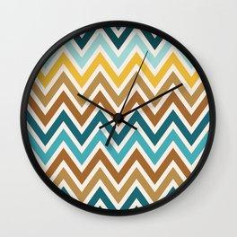 Indie Spice: Cumin Chevron Wall Clock