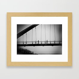 walking away Framed Art Print