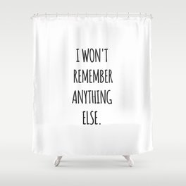 Lesbian quote Shower Curtain
