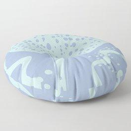 Stingray Swimming in Mint Floor Pillow