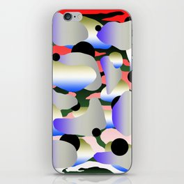 Camouflage and Circles II iPhone Skin