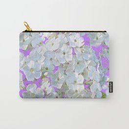 DELICATE LILAC & WHITE LACE FLORAL GARDEN PATTERNS Carry-All Pouch