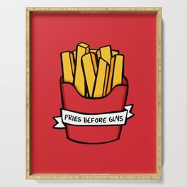Fries Before Guys Serving Tray