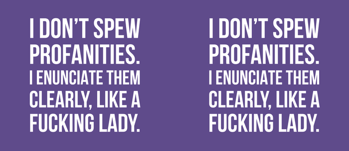 I Don't Spew Profanities I Enunciate Them Clearly Like a Fucking Lady (Ultra Violet) Kaffeebecher