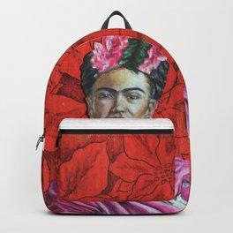 Frida Kahlo with Poinsettias Backpack