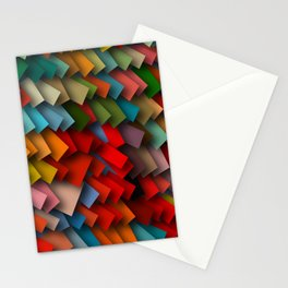 colorful rectangles with shadows Stationery Cards