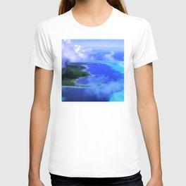 Heavenly Bora Bora Tropical Island Stunning Aerial View T-shirt