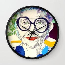 Iris Apfel Fanart Wall Clock