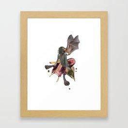 See how deep the bullet lies Framed Art Print