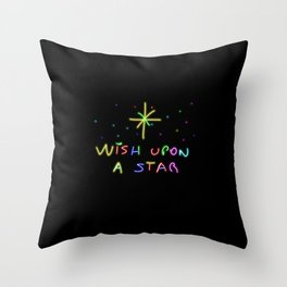 Wish upon a start Throw Pillow
