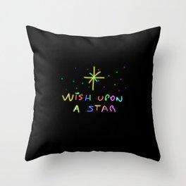 Wish upon a start Throw Pillow