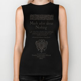 Shakespeare. Much adoe about nothing, 1600 Biker Tank