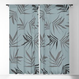 Exotic leaves pattern 35 Blackout Curtain