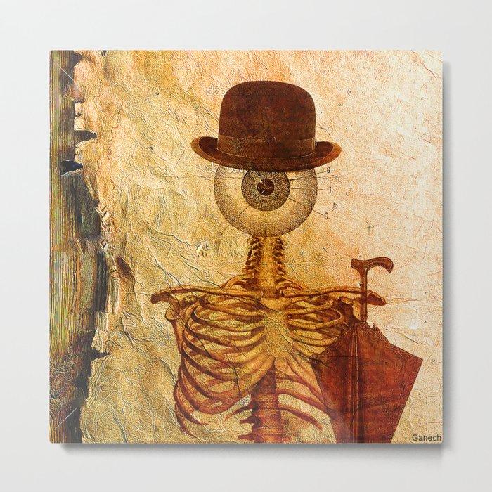 Monsieur Bone Metal Print