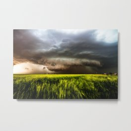 Inflow - Incredible Storm in Southwest Oklahoma Metal Print