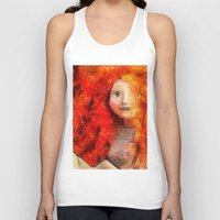 redhead Tank Tops featuring brave RedHead  by Julia Kovtunyak