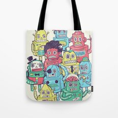 Robot's can't Smile Tote Bag
