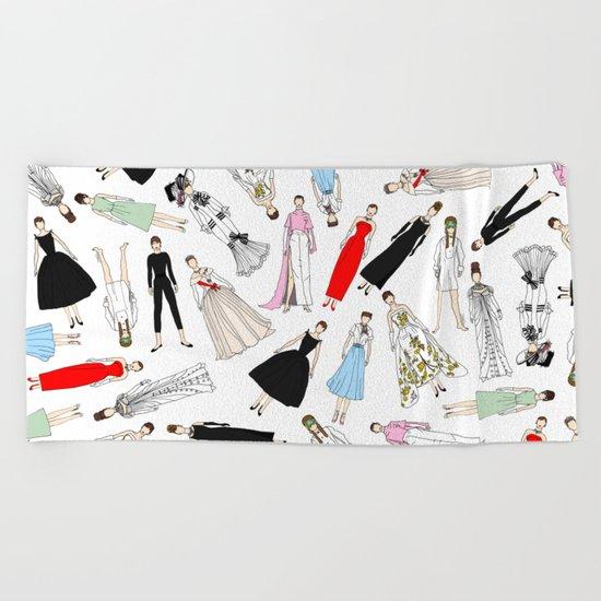 Audrey Fashion Whimsical Layout Beach Towel