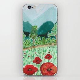 poppy-coquelicot iPhone Skin
