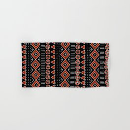 Mudcloth Style 2 in Black and Red Hand & Bath Towel