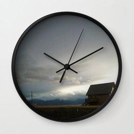 Prairie Outpost Wall Clock