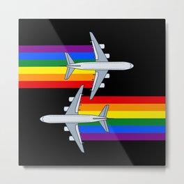 Rainbow Airlines 747 Lgbt gay pride aircraft plane Metal Print