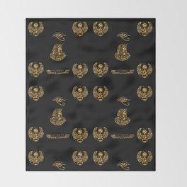Egyptian Symbols Throw Blanket