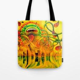 Jellyzilla destroys the Windy City Tote Bag