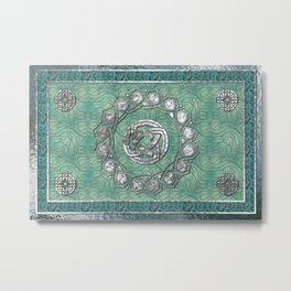 Arabesque Traditional Motif Metal Print