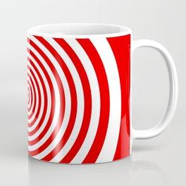 Red and White Spiral Coffee Mug